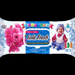 Խոնավ անձեռոցիկ Lola Fresh 100 հատ