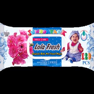 Խոնավ անձեռոցիկ Lola Fresh 120 հատ