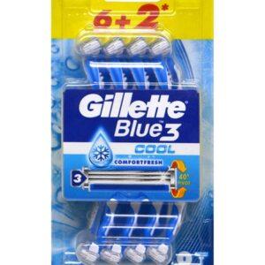 Սափրիչ Gillete Blue3 6+2 հատ